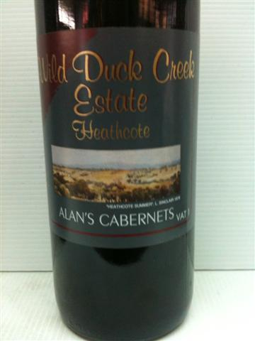 Wild Duck Creek Alan's Cabernet 1999